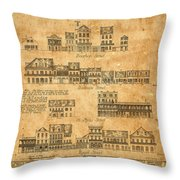 Vintage New Orleans Throw Pillow