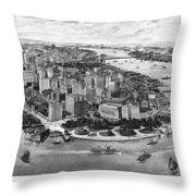 Vintage New York 1903 Throw Pillow