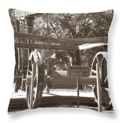 Vintage Oil Rig Santa Rita No. 1 Throw Pillow