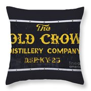 Vintage Old Crow - D008693 Throw Pillow