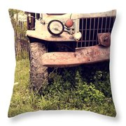 Vintage Old Dodge Work Truck Throw Pillow