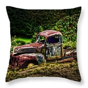 Vintage Old Forty's Pickup Throw Pillow