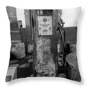 Vintage Old Gas Pump Throw Pillow