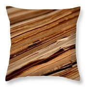 Vintage Papers Throw Pillow