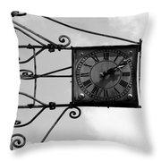 Vintage Paris Clock 2 Throw Pillow