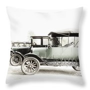 Vintage Parking Throw Pillow