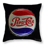 Vintage Pepsi Bottle Cap Throw Pillow