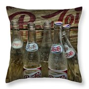 Vintage Pepsi Crate And Bottles Throw Pillow