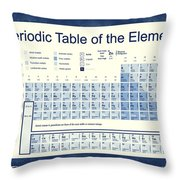 Vintage Periodic Table Of The Elements Throw Pillow by Dan Sproul