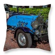 Vintage Peugeot 201 Throw Pillow
