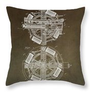 Vintage Phonograph Patent Throw Pillow