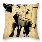 Vintage Photographer Tintype Throw Pillow