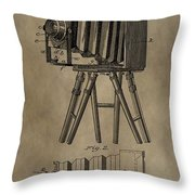 Vintage Photographic Camera Patent Throw Pillow
