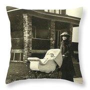 Vintage Photos Throw Pillow