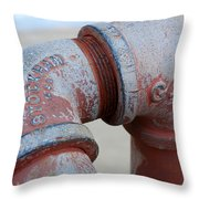 Vintage Pipe Recycled  Throw Pillow