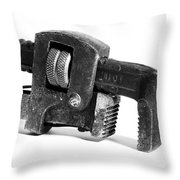 Vintage Pipe Wrench Throw Pillow