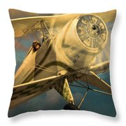 Vintage Plane In Flight Throw Pillow