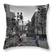 Vintage Playground Throw Pillow