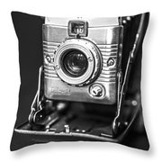 Vintage Polaroid Land Camera Model 80a Throw Pillow