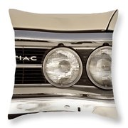 Vintage Pontiac Firebird 1967 Close Up Throw Pillow