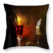 Vintage Port Throw Pillow by Amanda Elwell