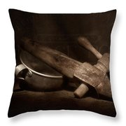Vintage Port Still Life Throw Pillow by Tom Mc Nemar