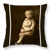 Vintage Portrait Of A Boy Throw Pillow