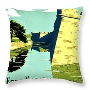 Vintage Poster - Fort Marion Throw Pillow