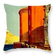 Vintage Poster - Napoli Throw Pillow