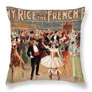 Vintage Poster Fanny Rice At The French Ball Throw Pillow