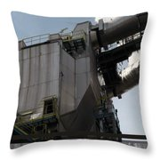 Vintage Power Plant  Part View Industrial Photography Throw Pillow
