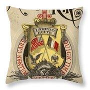 Vintage Train Ad 1897 Throw Pillow