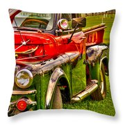 Vintage Ram Throw Pillow