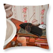 Vintage Reading Glasses Still Life Art Prints Throw Pillow