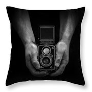 Vintage Rolleiflex Throw Pillow by Rod Sterling