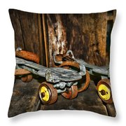 Vintage Roller Skates 3 Throw Pillow