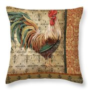 Vintage Rooster-a Throw Pillow