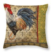 Vintage Rooster-c Throw Pillow