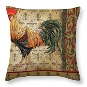 Vintage Rooster-d Throw Pillow