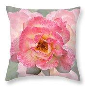 Vintage Rose Square Throw Pillow