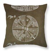 Vintage Roulette Wheel Patent Throw Pillow