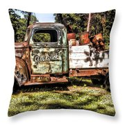 Vintage Rusty Old Truck 1940 Throw Pillow