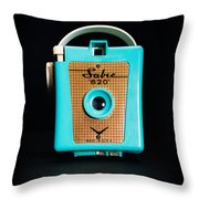 Vintage Sabre 620 Camera Throw Pillow