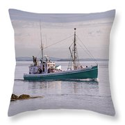 Vintage Sardine Carrier Michael Eileen Throw Pillow
