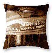 Vintage Sea Horse Throw Pillow