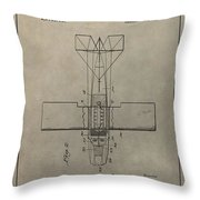 Vintage Seaplane Patent Throw Pillow