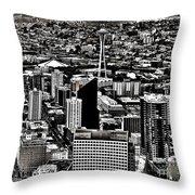 Vintage Seattle Throw Pillow