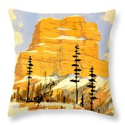 Vintage See America Travel Poster Throw Pillow