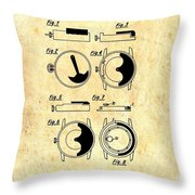 Vintage Self-winding Watch Movement Patent Throw Pillow