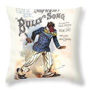 Vintage Sheet Music Cover 1896 Throw Pillow